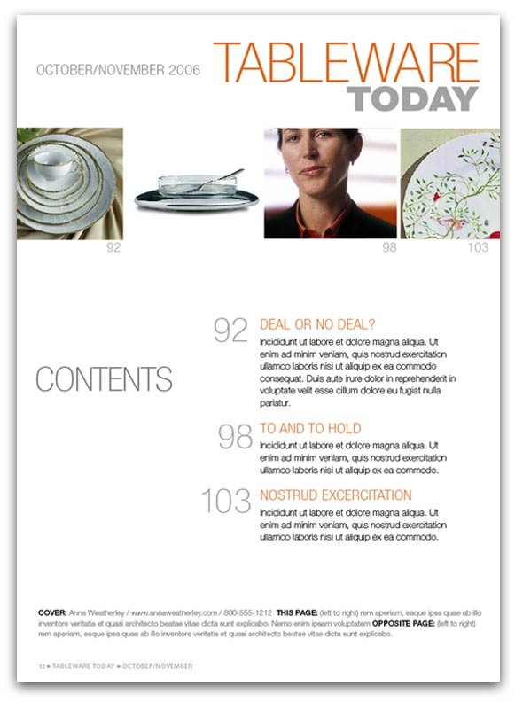 Tableware Today Magazine Page Design